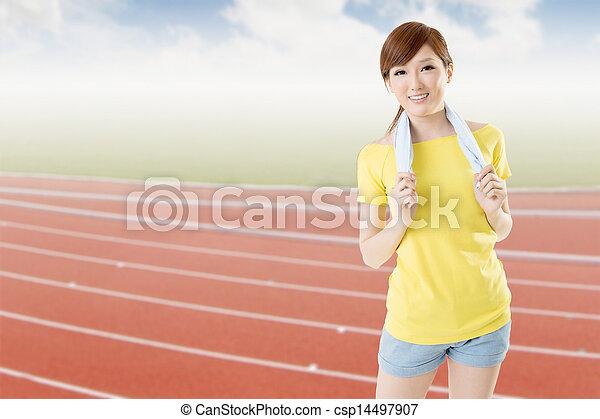 athletic woman - csp14497907