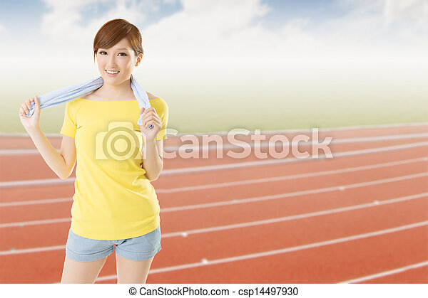 athletic woman - csp14497930