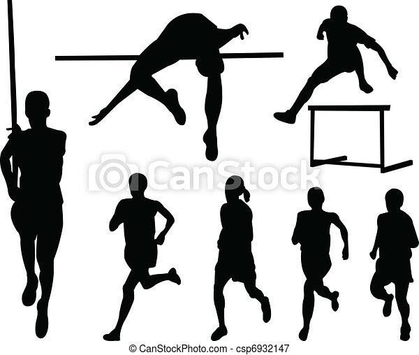 Athletics silhouette collection - csp6932147
