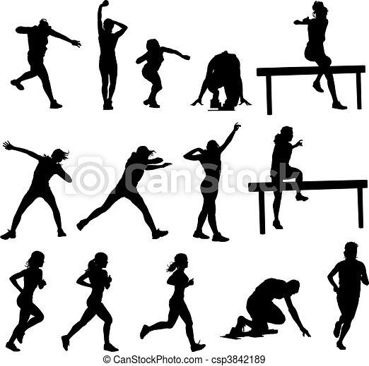 Athletics Silhouettes  - csp3842189