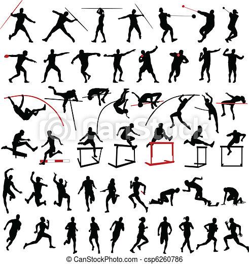 athletik, sammlung - csp6260786