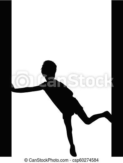 Silhouettes Sportkinder. - csp60274584