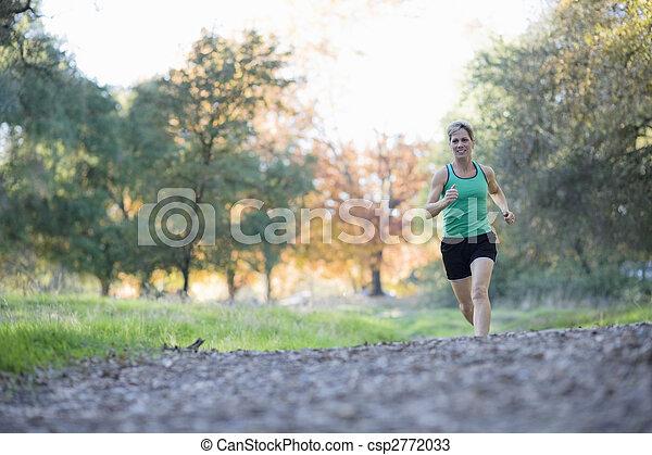 athletische, frau - csp2772033