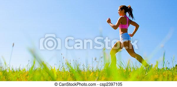 Sportlerinnen trainieren - csp2397105