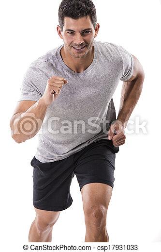 athletische, rennender , mann - csp17931033