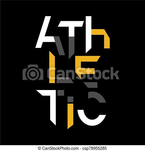 athletische, -, typographie - csp78955285