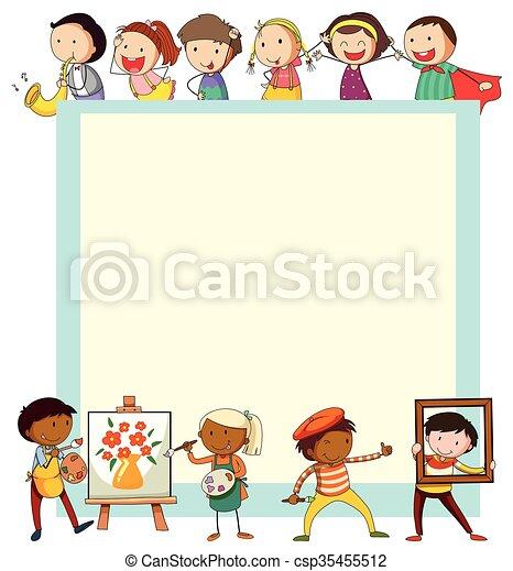 Atividades Papel Desenho Criancas Ilustracao