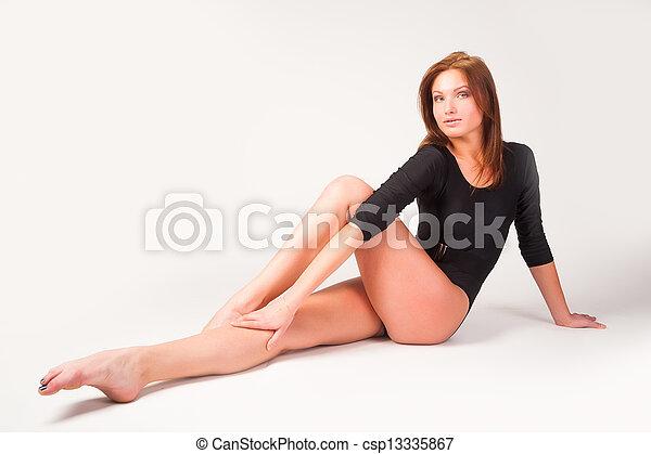 atlético, flexível, mulher - csp13335867