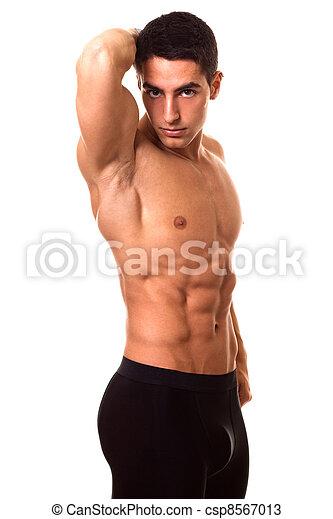 Hombre atlético sin camisa - csp8567013