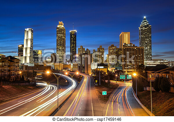 Atlanta downtown skyline  - csp17459146