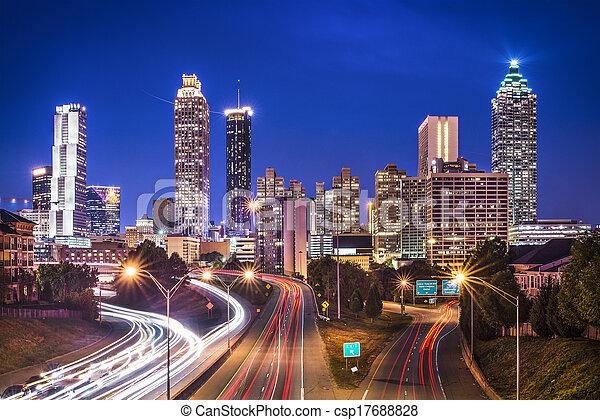 Atlanta, Georgia Skyline - csp17688828