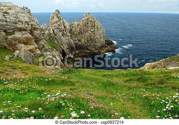 atlanten, bretagne, kust - csp0937214