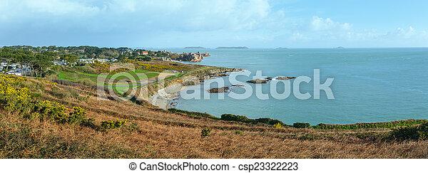 Atlantic coast spring panorama. - csp23322223