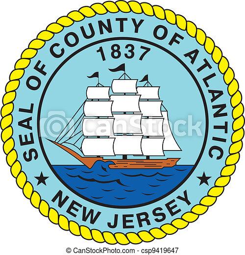 Atlantic county seal - csp9419647