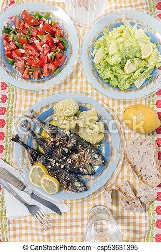 Atlantic horse mackerel meal - csp53631395