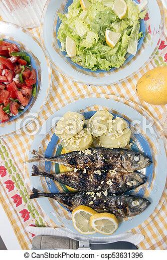 Atlantic horse mackerel meal - csp53631396