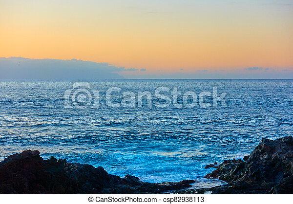 Atlantic Ocean at sunset - csp82938113