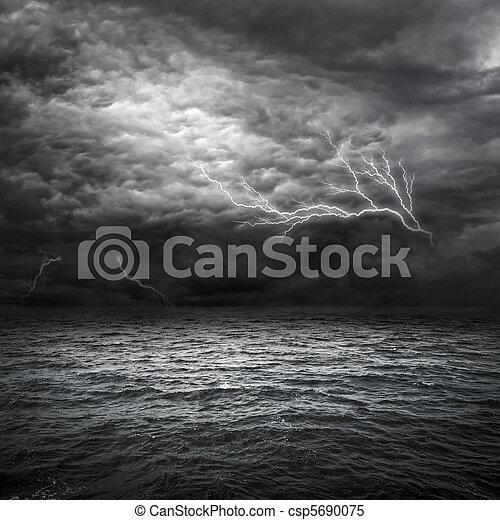 atlantique, orage, océan - csp5690075