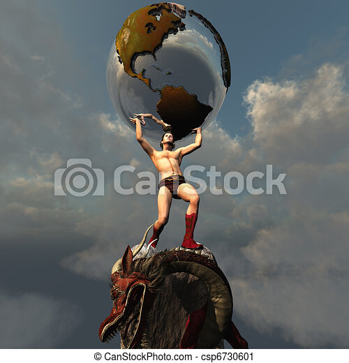 Atlas Holding Up The World