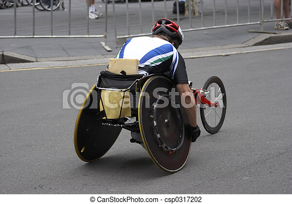 atleta del sillón de ruedas - csp0317202