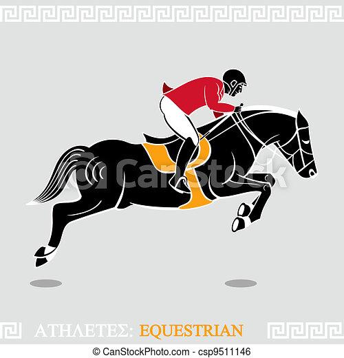 Atleta equestre cavallo arte stilizzato greco for Disegno cavallo stilizzato