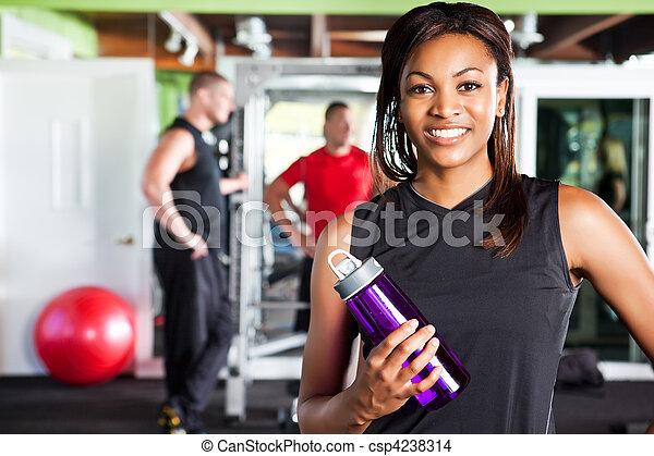Mujer atleta - csp4238314