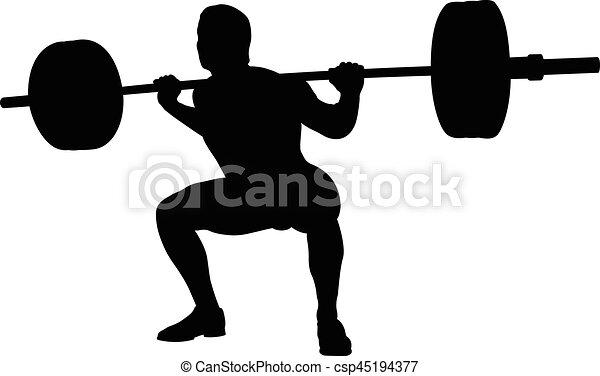 atleta, jovem, powerlifter - csp45194377