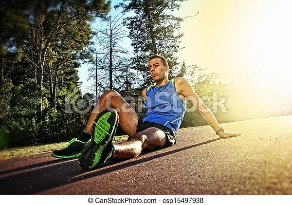 atleta, joven - csp15497938