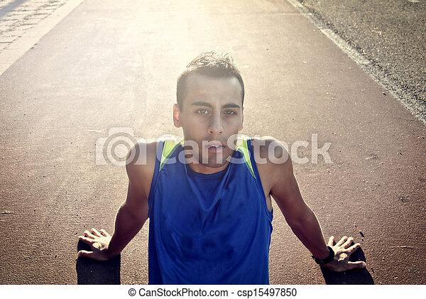 atleta, joven - csp15497850