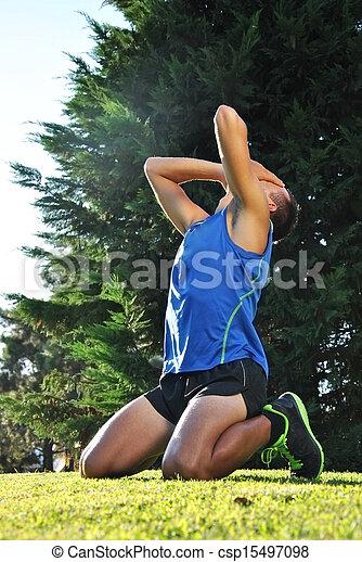 atleta, joven - csp15497098