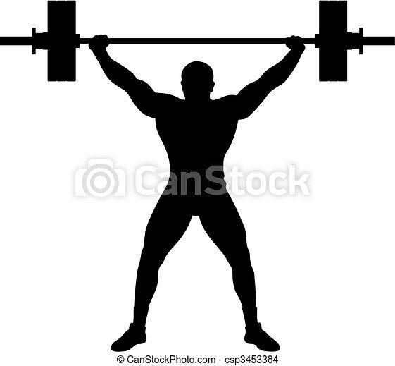 Atleta de levantadores de peso - csp3453384