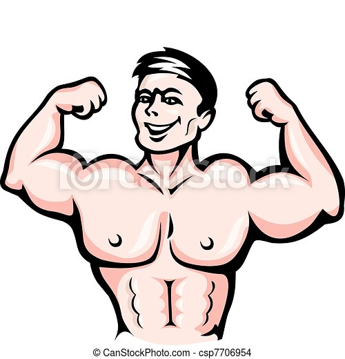 Atleta con músculos - csp7706954