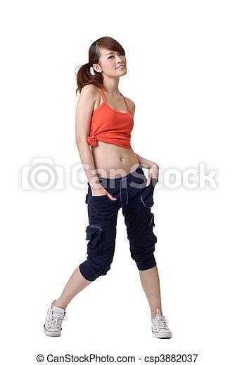 atleta, menina - csp3882037