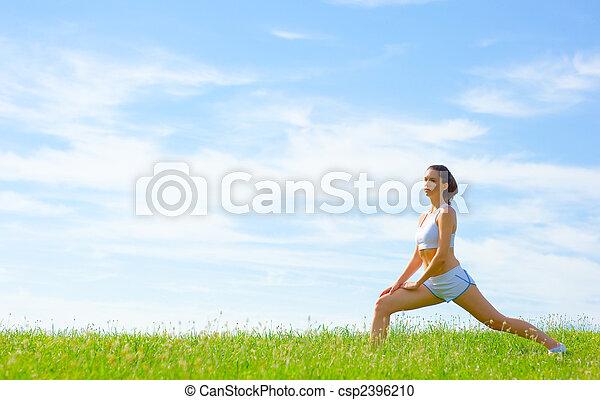 Una atleta madura - csp2396210