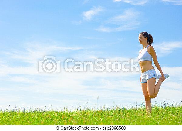 Una atleta madura - csp2396560