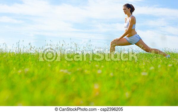 Una atleta madura - csp2396205