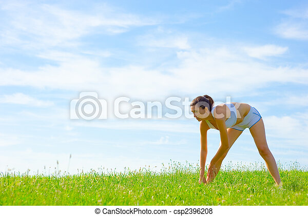 Una atleta madura - csp2396208
