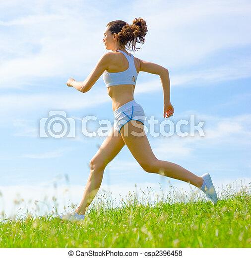 atleta, mujer, maduro - csp2396458