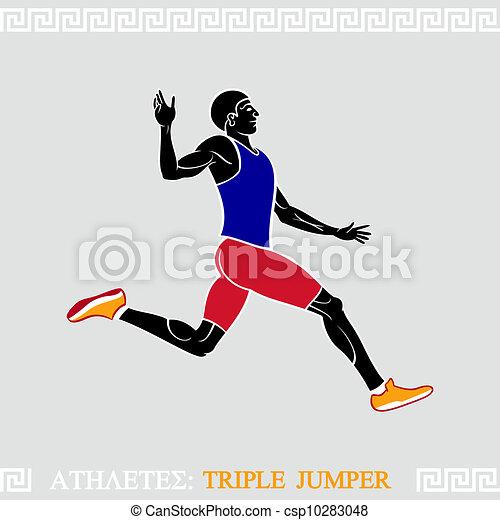 atleta, triplo, jumper - csp10283048