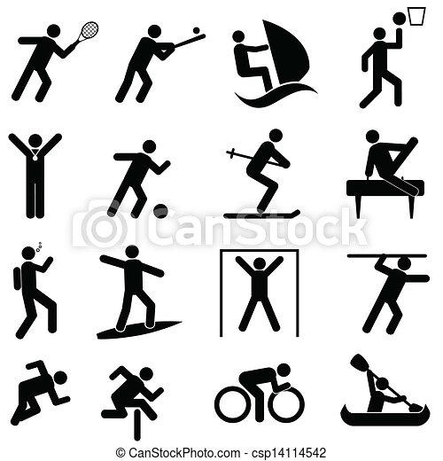atletica, icone sport - csp14114542