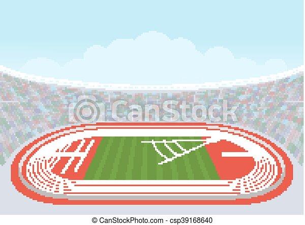 Estadio de atletismo para competiciones. - csp39168640