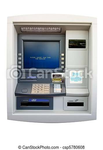 ATM - Automated Teller Machine. Isolated - csp5780608