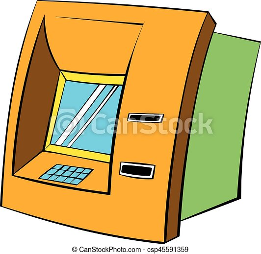 atm icon cartoon atm icon in cartoon style isolated vector rh canstockphoto com atm card clipart atm card clipart