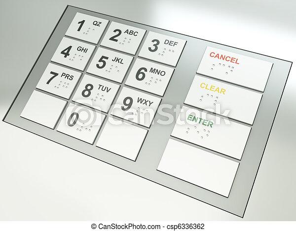 ATM keys - csp6336362