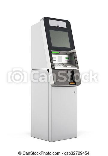ATM machine. 3d rendering. - csp32729454
