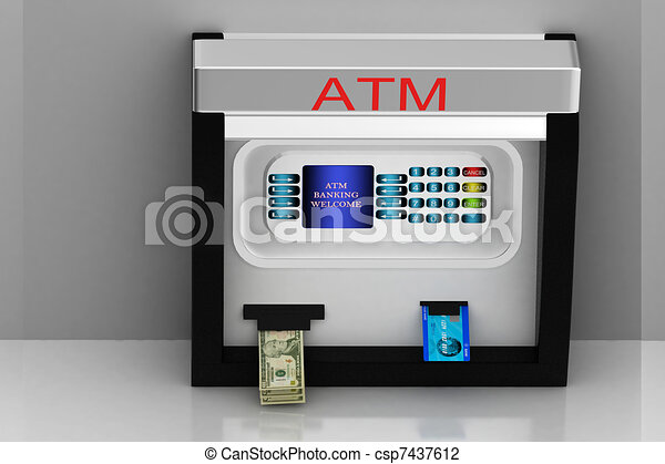 Atm machine - csp7437612