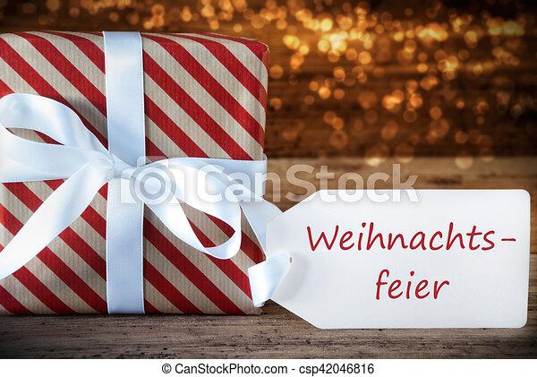 Atmosphärisch, geschenk, mittel, etikett, weihnachtsfeier, party ...