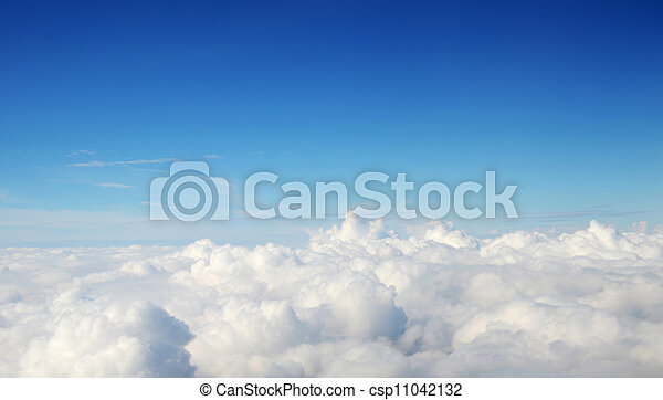 atmosphere - sky and clouds background - csp11042132