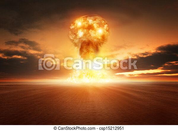 Atom Bomb Explosion - csp15212951
