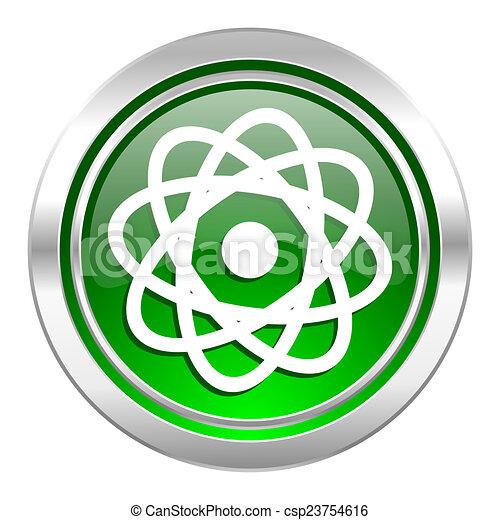 atom icon, green button - csp23754616